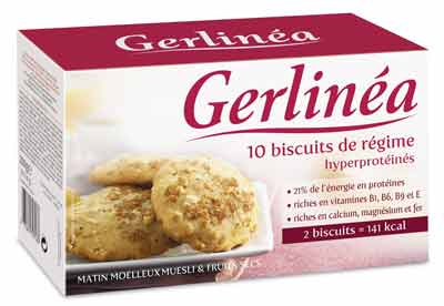 biscuits de r gime hyperprot in s muesli fruits gerlin a une unit calories 70 5 kcal. Black Bedroom Furniture Sets. Home Design Ideas