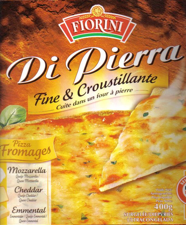 pizza 3 fromages di pierra fine croustillante fiorini 100g calories 225 kcal protides. Black Bedroom Furniture Sets. Home Design Ideas