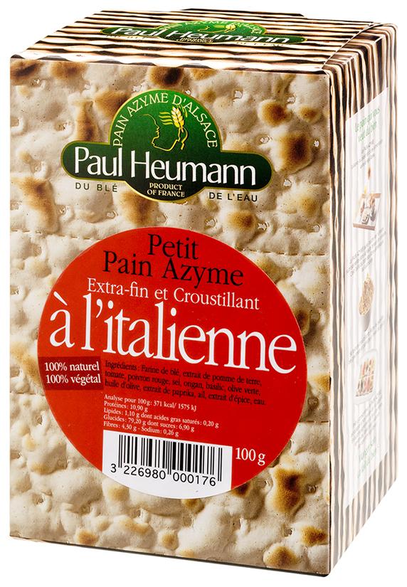 pain azyme l 39 italienne paul heumann 100g calories 371 kcal protides 10 9 g lipides. Black Bedroom Furniture Sets. Home Design Ideas