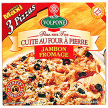 pizza jambon fromage volpone leclerc marque rep re 100g calories 189 kcal protides 10. Black Bedroom Furniture Sets. Home Design Ideas