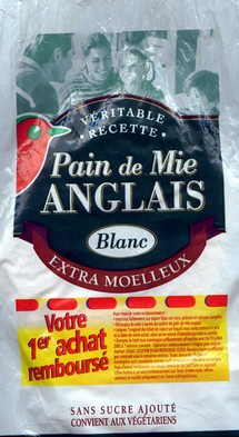 Pain de mie anglais unit 100g calories 74 kcal - Mettre la table en anglais ...