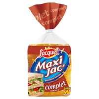 pain de mie complet maxi jac 39 jacquet 100g calories 239 kcal protides 11 g lipides 3. Black Bedroom Furniture Sets. Home Design Ideas
