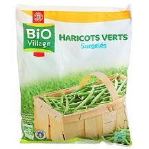 haricots verts surgel s sachet biovillage 100g calories 27 kcal protides 2 g lipides. Black Bedroom Furniture Sets. Home Design Ideas