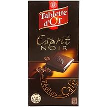 chocolat noir p pites caf tablette d 39 or leclerc marque rep re 100g calories 516 kcal. Black Bedroom Furniture Sets. Home Design Ideas