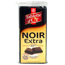 chocolat noir extra sup rieur 47 tablette d 39 or leclerc marque rep re 100g calories 502. Black Bedroom Furniture Sets. Home Design Ideas