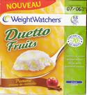 DUETTO fruits pomme pointe de cannelle WIEGHT WATCH...