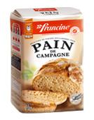 farine pour pain de campagne francine 100g calories 328 kcal protides 10 7 g lipides. Black Bedroom Furniture Sets. Home Design Ideas