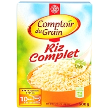 riz complet comptoir du grain leclerc marque rep re 100g calories 350 kcal protides 7 5. Black Bedroom Furniture Sets. Home Design Ideas