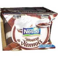 mousse de viennois au chocolat nestl 100g calories 189 kcal protides 3 3 g lipides. Black Bedroom Furniture Sets. Home Design Ideas