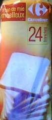 pain de mie carrefour 100g calories 269 kcal protides 9 g lipides 4 1 g glucides. Black Bedroom Furniture Sets. Home Design Ideas